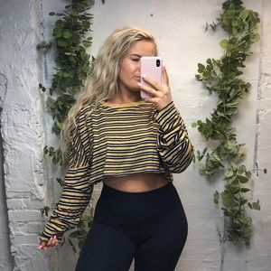 Urban Outfitters Striped Crop Top L